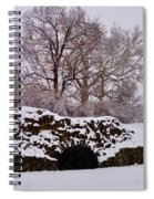 Plymouth Meeting Lime Kilns In The Snow Spiral Notebook