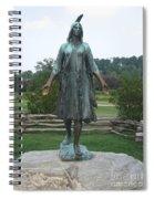 Pocahontas Sculpture Spiral Notebook