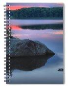 Poconos Sunset Mirror Spiral Notebook
