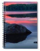 Poconos Lake Whitney Sunset Silhouette Spiral Notebook