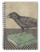 Poe And The Crow Spiral Notebook