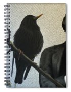 Poe And The Raven Spiral Notebook
