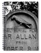 Poe's Original Burial Place Spiral Notebook