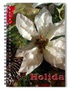 Poinsetta Christmas Card Spiral Notebook