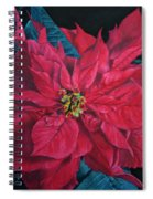 Poinsettia II Painting Spiral Notebook