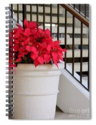 Poinsettias By The Stairway Spiral Notebook