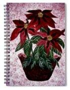 Poinsettias Expressive Brushstrokes Spiral Notebook