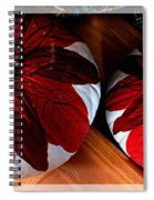 Poinsettias - Handmade - Crafts - Pumpkins Spiral Notebook