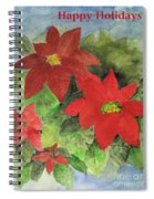 Poinsettias Holiday Card Spiral Notebook