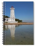 Point Abino Lighthouse Reflection Spiral Notebook