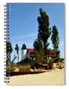 Point Betsie Light Spiral Notebook
