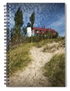 Point Betsie Lighthouse On Lake Michigan Spiral Notebook