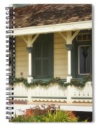 Point Fermin Lighthouse Christmas Porch Spiral Notebook