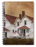 Point Iroquois Lighthouse Michigan Spiral Notebook