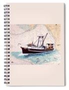 Point Loma Trawl Fishing Boat Nautical Chart Map Art Spiral Notebook