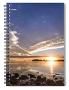 Point Of The Sunset Spiral Notebook