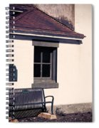 Point Wilson Lighthouse Bench Spiral Notebook