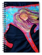 Pointer Cut Out With Wind Blowing Spiral Notebook