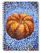 Pointillism Pumpkin Spiral Notebook