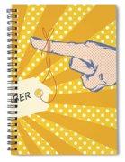 Pointing Finger Pop Art Vector Spiral Notebook