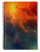 Points Of Light Abstract Art By Sharon Cummings Spiral Notebook