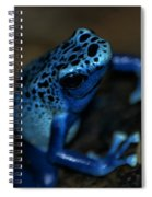 Poisonous Blue Frog 02 Spiral Notebook