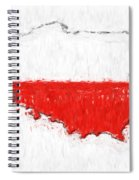 Poland Painted Flag Map Spiral Notebook