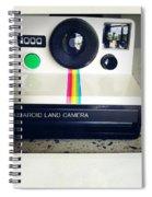 Polaroid Camera.  Spiral Notebook