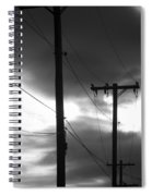 Poles And Sunsets In Black And White Spiral Notebook