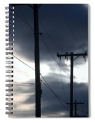 Poles And Sunsets Spiral Notebook