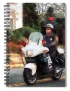 Police - Motorcycle Cop On Patrol Spiral Notebook