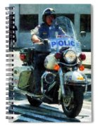 Police - Motorcycle Cop Spiral Notebook