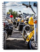 Police Motorcycle Lineup Spiral Notebook