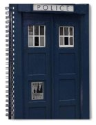 Police Phone Box Spiral Notebook