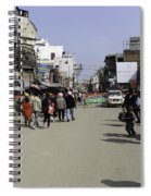 Police Vehicle And Barricades In Front Of Golden Temple In Amritsar Spiral Notebook