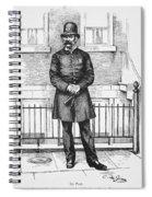 Policeman, C1885 Spiral Notebook