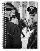 Policemen In Rome Spiral Notebook