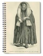 Polish Rabbi With Talith And Phylacteries Spiral Notebook