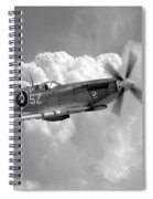 Polish Spitfire Ace Bw Spiral Notebook