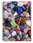 Polished Gemstones Spiral Notebook