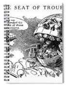 Political Cartoon, 1916 Spiral Notebook