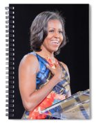 Michelle Obama Spiral Notebook