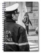 Polizia Roma Capitale Spiral Notebook