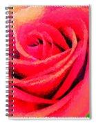 Polka Dot Beautiful Rose Spiral Notebook
