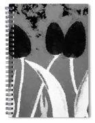Polka Dot Black Tulips Spiral Notebook