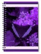 Polka Dot Butterfly Purple Spiral Notebook