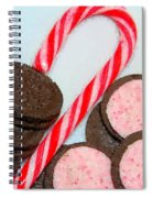 Polka Dot Candy Cane Cookies Spiral Notebook