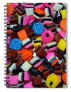Polka Dot Colorful Candy Spiral Notebook
