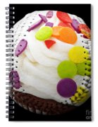 Polka Dot Cupcake Baseball Square Spiral Notebook