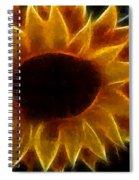 Polka Dot Glowing Sunflower Spiral Notebook